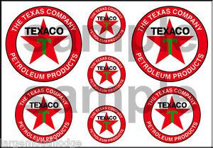 1 1/2 3/4 INCH TEXACO DECALS STICKERS