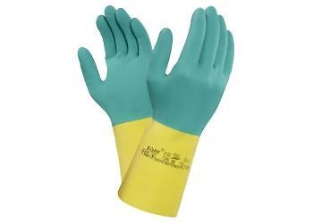 1 2 6 or 12 Pairs Ansell Light Strong Green Rubber Household Ultra Grip Gloves