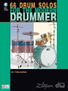 66 Drum Solos For The Modern Drummer Rock-funk-blues-fusion 002500319-afficher Le Titre D'origine Fabrication Habile