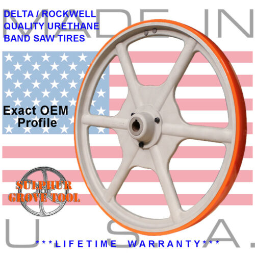 """Delta 28-350 Type 1 20/"""" Urethane Band Saw Tires rplcs 2 OEM parts 426040945002"""