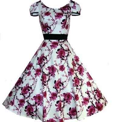 50s Rockabilly Formal Evening Swing Dance Pinup Vintage Dress AU size 10 - 26
