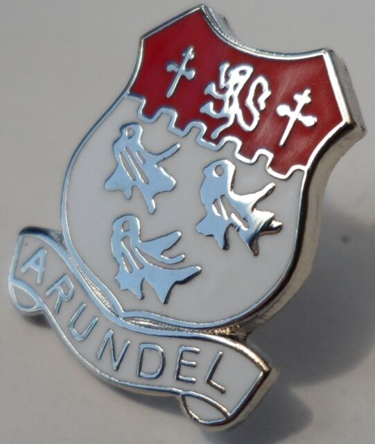 Arundel Town West Sussex County Crest Small Pin Badge (0528)