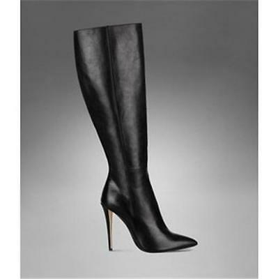 YSL Yves Saint Laurent Clara Black Leather Stiletto Heels Tall Boots 40.5 $1275