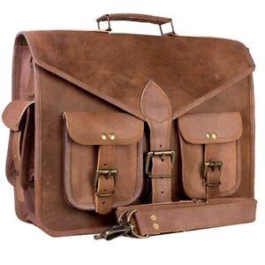 Men-039-s-Leather-Messenger-Bag-Shoulder-Business-Briefcase-Laptop-Bags-GVB-Handmade