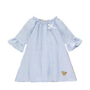 STEIFF Kleid hellblau gestreift mit Schleife Gr. 92 - 116 NEU