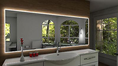 Badspiegel Pontivy Mit LED Beleuchtung Badezimmerspiegel Bad Spiegel  Wandspiegel