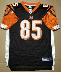 Youth Authentic Reebok NFL Bengals 85 C Johnson Football Jersey ...