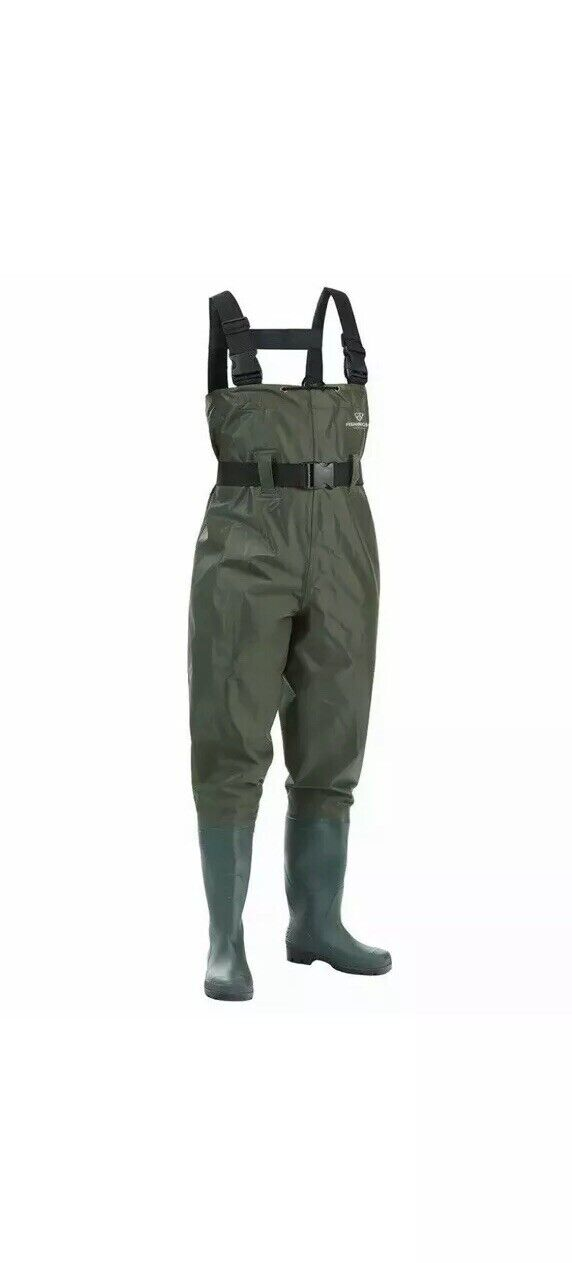FISHINGSIR Waterproof Insulated Breathable  Nylon and PVC Cleated Waders SIZE5 38  your satisfaction is our target
