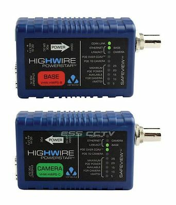 VERACITY HIGHWIRE POWERSTAR combo, Ethernet POE extender over COAX video cable