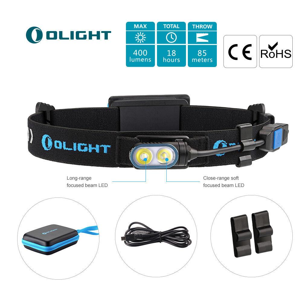 Olight HS2 aufladbar LED Stirnlampe Running Light Kopflampe mit Cree LED + AKKU