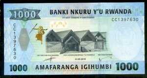 RWANDA 500 1000 2000 FRANCS 2014-2019 P-NEW-40 UNC SET OF 3