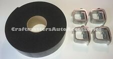 Truck cap Topper Camper shell mounting  API #KH1 4 clamps / Foam cap tape combo