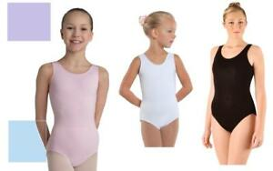 46db7d49b NEW Dance Leotard Cotton Tank Leotard Black ALL SIZE Ballet Jazz