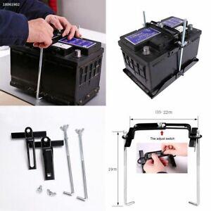 Car Storage Battery Holder Adjustable Stabilizer Metal Rack Mount Bracket Kit