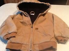 Baby Boys CARHARTT Quilted Insulated Lined Jacket Coat Size 2T Toddler Brown