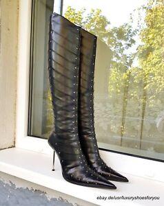 GIANMARCO-LORENZI-Black-Leather-Boots-gr-EUR-38