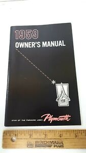 1959-PLYMOUTH-Original-NOS-Owner-039-s-Manual-Excellent-Condition-US