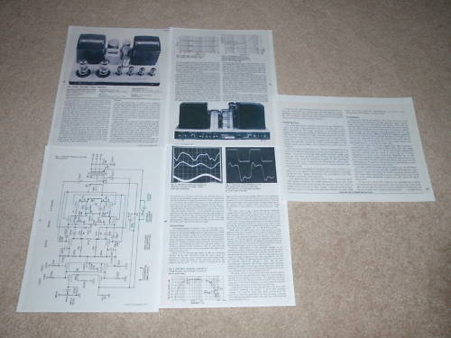 Luxman MB-3045 Tube Amplifier Review 5 pgs Specs 1978 Full Test Schematic