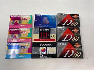 Lot Of 9 Vintage NOS Media Cassette Tapes
