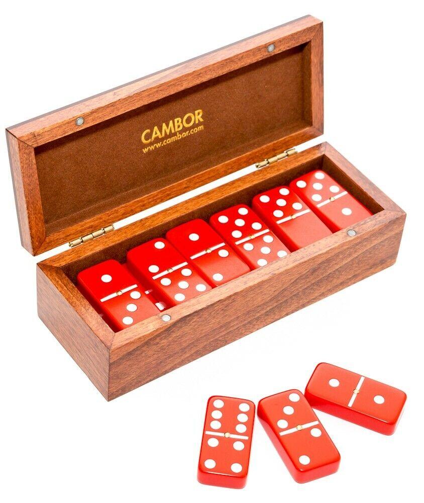 Tamaño Jumbo De Lujo Doble seis Dominó Set-Rojo