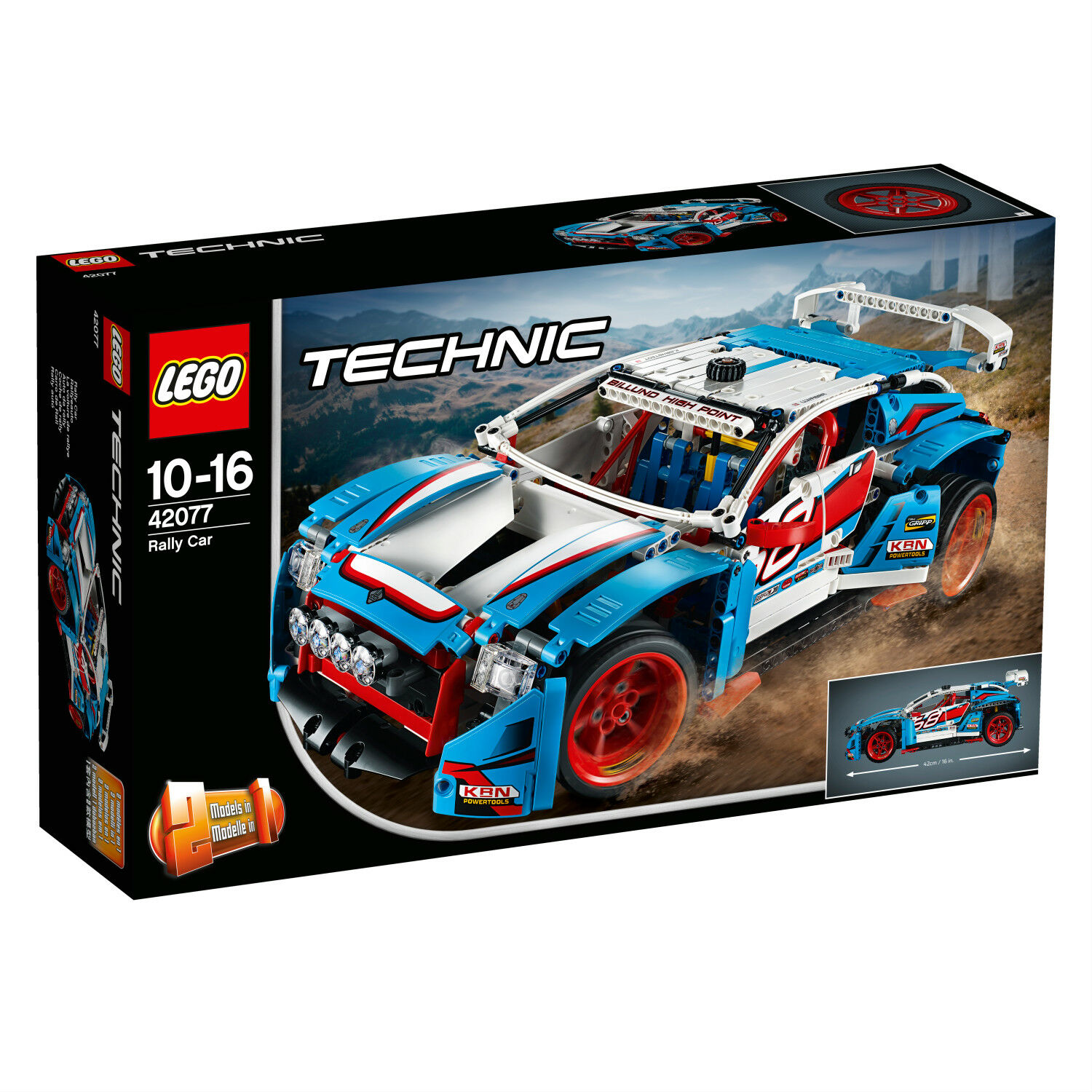 LEGO Technic 42077 Rallyeauto La voiture de rallye Rally Car N1/18