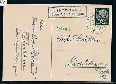 00781) Landpost Ra2 Fischbach über Schleusingen, Karte 1936