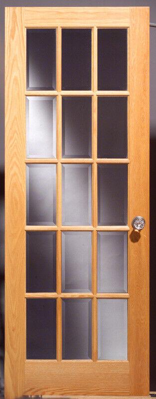 Red Oak 15-lite Interior Door (FC glass) - 28  x 80  x 1-3 8  - slab or prehung