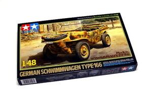 Tamiya-Military-Model-1-48-German-Schwimmwagen-T-166-Scale-Hobby-32506