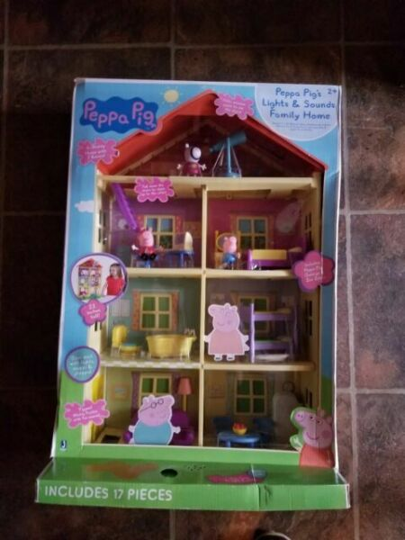Peppa Pig Playset house /& Sounds Family Home Brand New