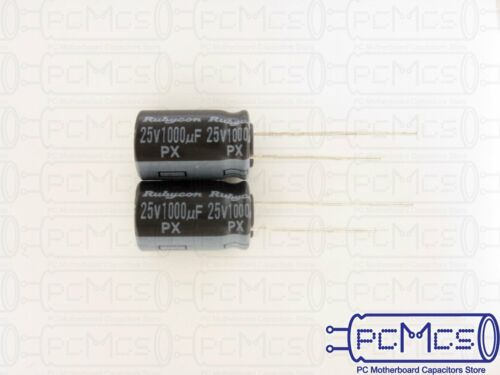 10 Pcs of Rubycon PX series 25V 1000UF 105c Made in Japan Capacitor 10x16