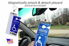 Mirortag Gold - Sturdy Handicap Parking Tag Holder & Protector. Easy On & Off