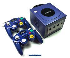## Nintendo GameCube GC Konsole blau / lila + 2 Pads + Strom- & TV-Kabel - TOP #