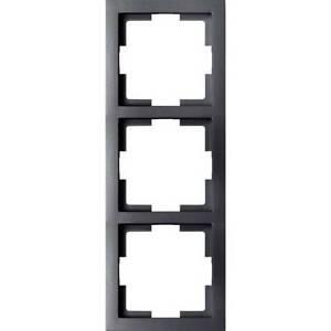 Gao-3-scomparti-telaio-di-copertura-modul-nero-eft003black