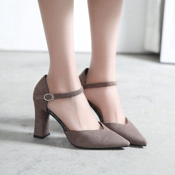 Último gran descuento decolte scarpe donna grigio tacco quadrato 9 cm simil pelle eleganti 9686