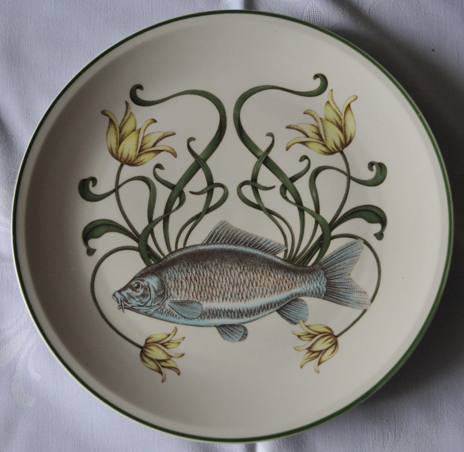 Villeroy & Boch Fisch Service braunidge-Design 9-teilig komplett