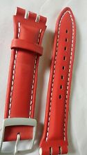 red leather Swatch watch irony chronograph replacement bracelet band