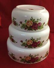 Royal Albert Doulton Old Country Roses 3 Nesting Bowls
