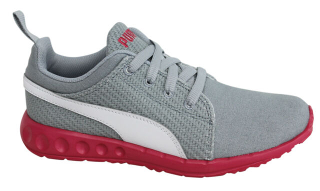 best loved d6526 80fa8 Puma Carson Runner CV Lace Up Grey Pink Textile Unisex Trainers 189298 01  D89