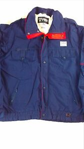 Fera-Entrant-Ski-Jacket-VTG-Mens-SZ-L-Lined-Filled-Zip-Button-Pockets-Coat-BOGO