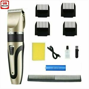 Professional Hair Clippers Trimmer Mens Barber Hair Cutting kit Machine Cordless