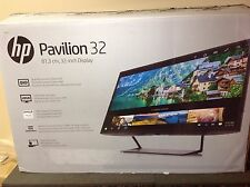 "HP Pavilion 32"" QHD LED HD Monitor 178° Viewing Angle 7ms (2560x1440) - Black"