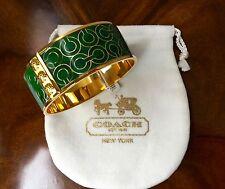 NWT Coach 2012 Tony Duquette Collection Faux Malachite Signature C Bangle $128