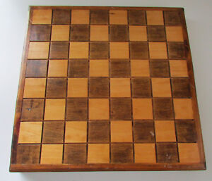Vintage-Wooden-Chess-Board-Game-Decor-Hand-Made-17-5-034-x-17-5-034