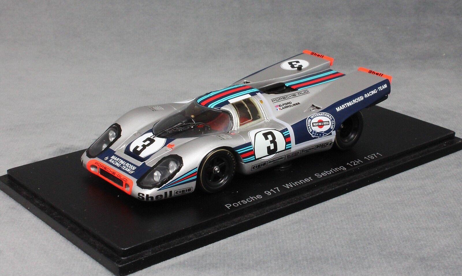 Spark Porsche 917K Ganador Sebring 12 H 1971 Elford & Larrousse 43SE71 1 43 Nuevo