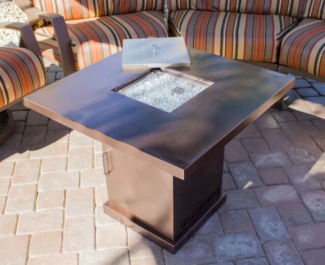 Outdoor Fireplace Fire Pit Table Top Patio Garden Propane Gas Heater Hearth Yard