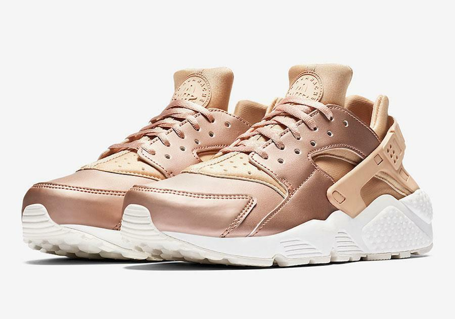 NIKE WMNS AIR HUARACHE RUN PRM TXT AA0523 200 ELM METALLIC RED BRONZE WHITE