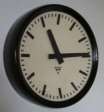 PRAGOTRON  Vintage Bakelite Industrial Clock Factory 32 cm depth 6 cm