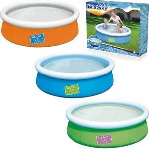 """BESTWAY 6FT X 20/"""" FAST SET FAMILY PATIO GARDEN OUTDOOR PADDLING SWIMMING POOL"""