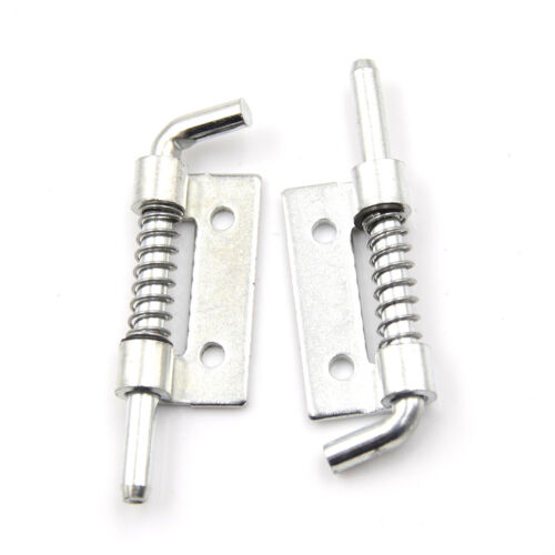 5 PCS Fixed Type Spring Loaded Barrel Bolt Latch Silver Tone  HS
