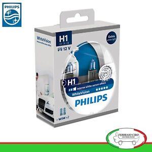 LAMPADE-PHILIPS-White-Vision-H1-12V-55W-60-2-W5W-LUCI-DI-POSIZIONE